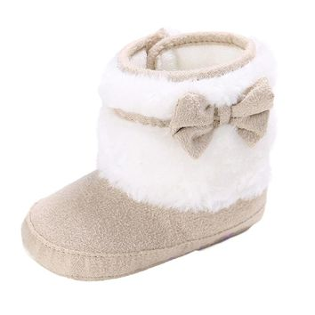 Bowknot Keep Warm Soft Sole Snow Boots