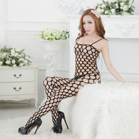 Black Transparent Women's Body Stocking Sexy Lingerie