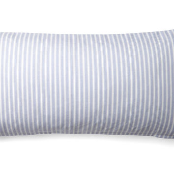 Ticking 12x24 Cotton Pillow, Lilac, Decorative Pillows