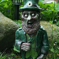 The Leprecadaver -Green Irish Leprechaun Zombie Gnome