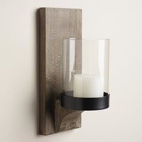 Rustic Wood Mason Sconce