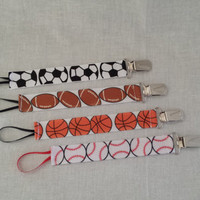 Sports Pacifier Clips