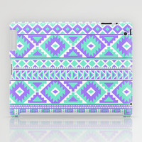 Tribal Art Creation Purple and Mint iPad Case by Tjc555