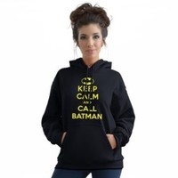 Stabilitees Keep Calm and Call Batman Inspired Hoodie, All Colours:Amazon:Clothing