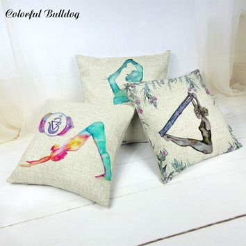 The New Office And Car Waist Cushion Covers 43 * 43cm Modern Fashion Elements Meditation Yoga Comfortable Home Pillowcases