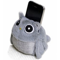 Cut Gray Owl Phone Holder