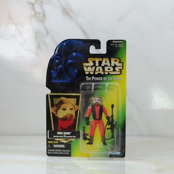 Vintage Star Wars The Power of the Force Nien Nunb, Action Figure, 1997, Hasbro