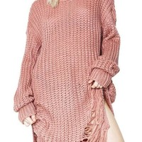 Punk Raw Sweater Dress