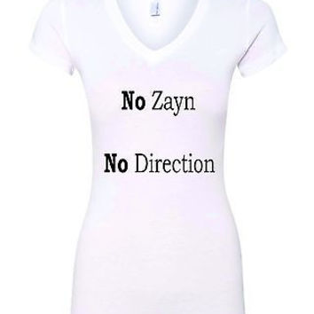 No Zayn No Direction Love Zayn Malik Women's Sporty V Shirt