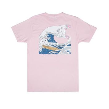 The Great Wave Of Nerm Tee (Blossom) - Ripndip | RIPNDIP