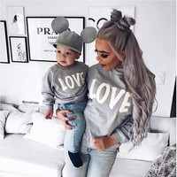 Couple T-Shirt Love Mother Son Daughter Matching Shirts Hooded Outfit