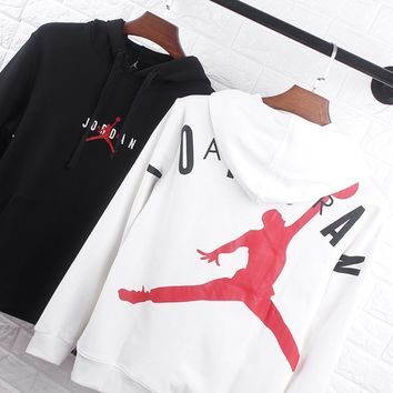 JORDAN Classic Popular Men Women Casual Print Hoodie Sweater Sweatshirt