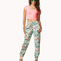 Tropical Floral Joggers