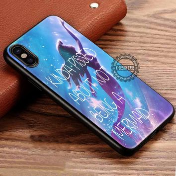 Kinda Pissed Ariel The Little Mermaid Quotes iPhone X 8 7 Plus 6s Cases Samsung Galaxy S8 Plus S7 edge NOTE 8 Covers #iphoneX #SamsungS8