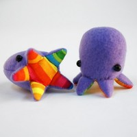 Handmade Gifts | Independent Design | Vintage Goods Teeny Tiny Baby Octopod - Rainbow Edition - Father's Day