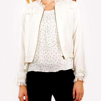 Frayed Bomber Jacket