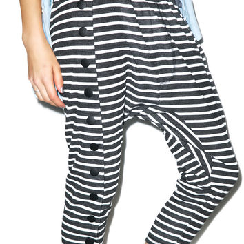 One Teaspoon Fox Trot Slouch Pants Black/White