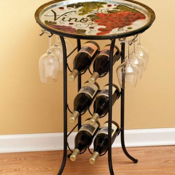 Wine Rack - Holds Glasses