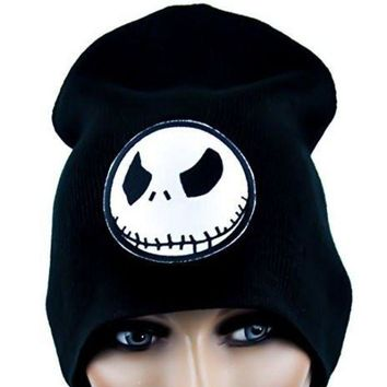 ac spbest Angry Jack Skellington Beanie Halloween Cap  Nightmare Before Christmas