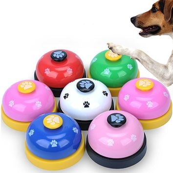 Lovely Footprint Pet Dog Cat Metal Training Bell Playing Toy Feeding Clickers