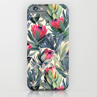 Painted Protea Pattern iPhone & iPod Case by Micklyn