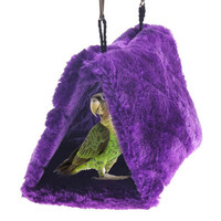 Winter warm parrot pigeons Hanging big bird cage Hammock house bed cotton plush hamster cage house for birds bird accessories