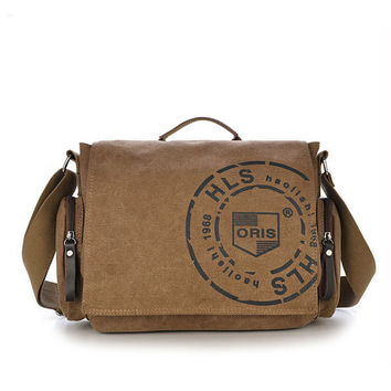 Men Vintage Canvas Messenger Bag