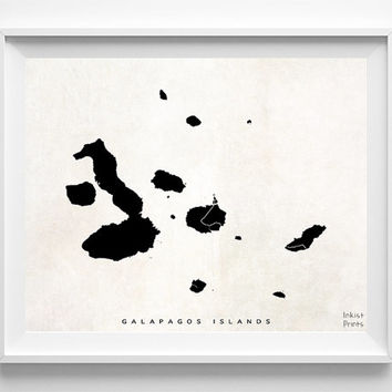 Galapagos Islands Print, Ecuador Print, Galapagos Islands Poster, Ecuador Poster, Decor Idea, Home Town, Nursery Wall Decor, Halloween Decor