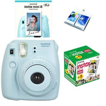 Fujifilm Fuji Instax Mini 8 Polaroid Instant Camera + 50 Film + Photo Album