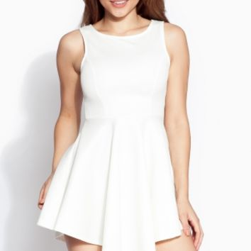 Off White Asymmetrical A Line Dress @ Cicihot sexy dresses,sexy dress,prom dress,summer dress,spring dress,prom gowns,teens dresses,sexy party wear,ball dresses