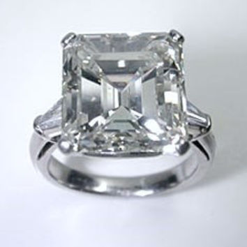 Emerald Cut Diamond 12.52ct K-VS2 Platinum Diamond Engagement Ring GIA certified BLUERIVER47 Fine Jewelry Etsy 1 of 2 Payments