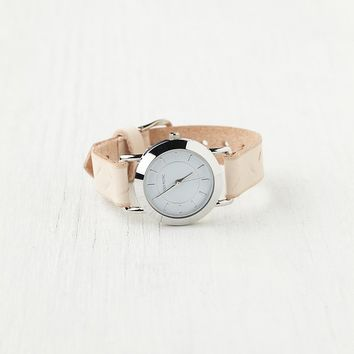 Feather Print Leather Watch