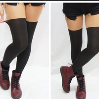 Sexy Fashion Plain Beige/Black Pantyhose Design Pattern Printed Tattoo Leggings Stockings Tights Leggings {Free Shipping}
