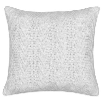 Flatiron Home Cable Knit Square Throw Pillow