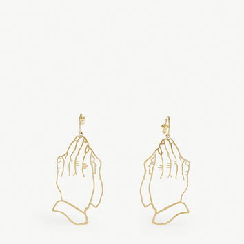 SIMONE ROCHA Praying hands stencil earrings
