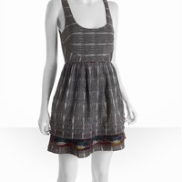 Free People charcoal dash cotton