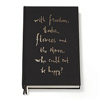 """Who Could Not Be Happy?"" Journal in Black by Kate Spade New York"