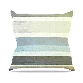 "CarolLynn Tice ""No Limits"" Teal Brown Outdoor Throw Pillow"