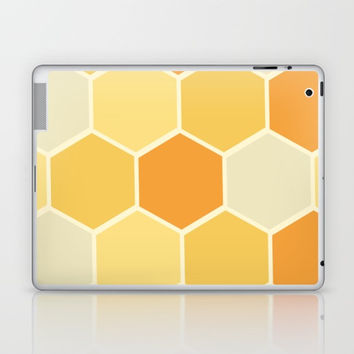 Yellow Honeycomb Laptop & iPad Skin by spaceandlines