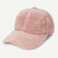 Pink Fuzzy Dad Hat