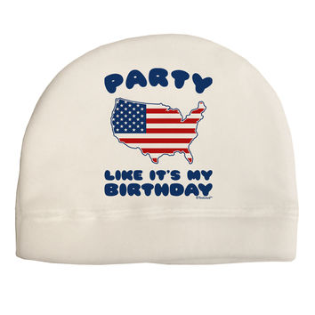 Party Like It's My Birthday - 4th of July Adult Fleece Beanie Cap Hat
