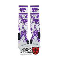 Custom Nike Elite Socks - Kansas State Wildcats Custom Nike Elites - K State Socks, Custom Elites, Nike Socks, Wildcats Socks, KSU, K-State