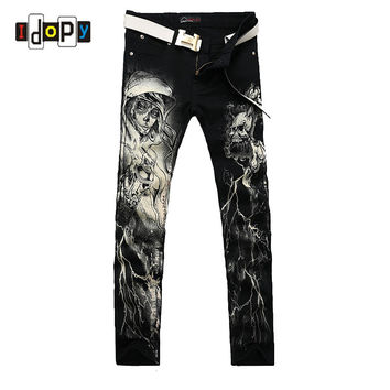 Men`s Printed Straight Leg Jeans