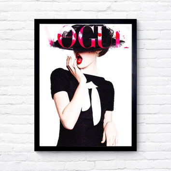 Vogue Cover, More Issues Than Vogue Print, Fashion Print, Wall Art, Vogue Print, Bedroom Decor, Home Decor, Fashion Art, Christmas Present