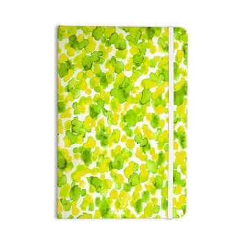 "Ebi Emporium ""Giraffe Spots - Lemon Lime"" Green Yellow Everything Notebook"
