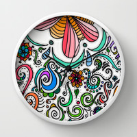 Color Celebration Wall Clock by DuckyB (Brandi)
