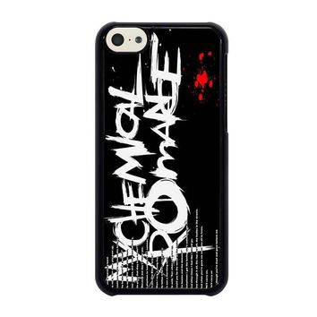 my chemical romance lyric iphone 5c case cover  number 1