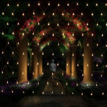 String Lights 2M x 3M 200LEDs Net Mesh Fairy Twinkle flash lamp Home Garden Christmas Wedding Xmas tree Party Garland Decoration