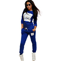 2016 tracksuit Women Femme Suits Hoodies Clothes Tracksuits For Women Sweatshirt Autumn Sets Casual Letter Sportswear