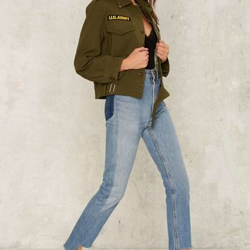 After Party by Nasty Gal Cavalry Military Jacket